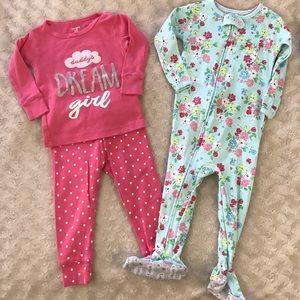 Carter's 12 Month Pajama Bundle Footed Sleeper